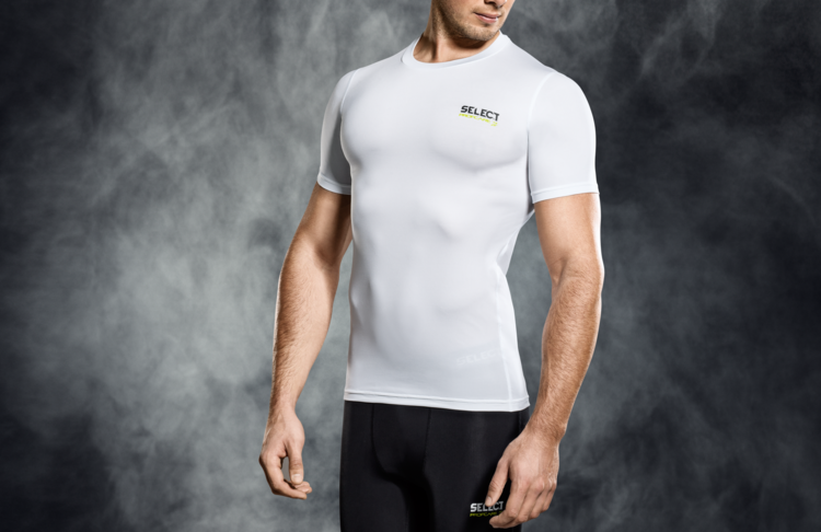 6900 T-SHIRT DE COMPRESSION MANCHES COURTES - blanc